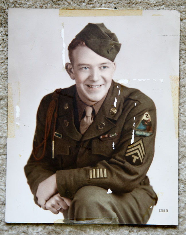 Sherman D Stockdale color portrait abt 1945
