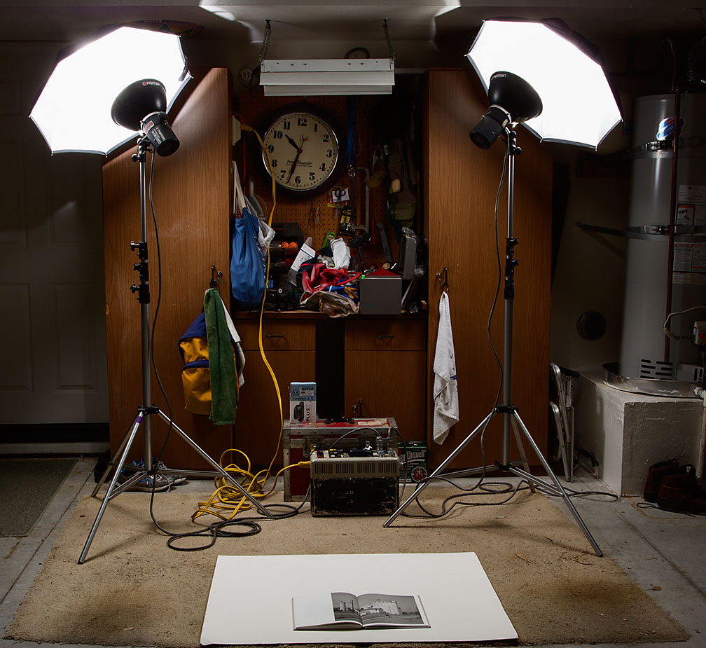 Norman Strobe set-up for book photography