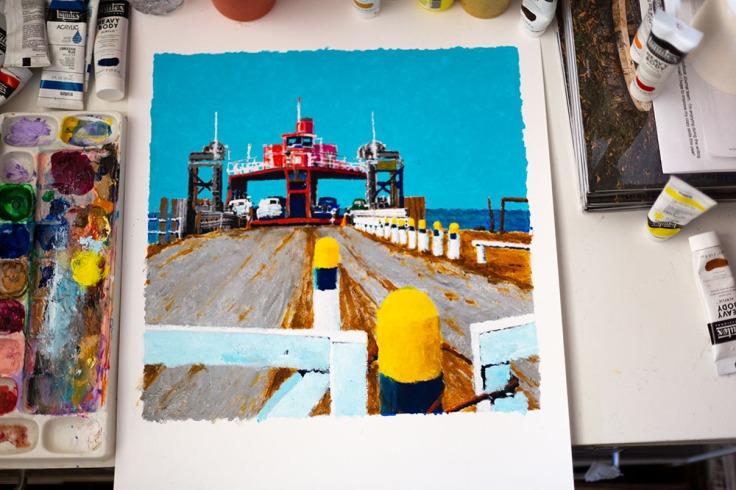 08-30-20 KI6A8677 Bluewater Shore - Ferry Crossing - Acrylic study
